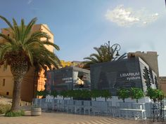Concept design of the cafè LIBARIUM, located in Italy. Exterior view in the landscape.