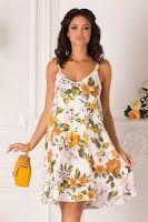 rochie-de-vara-2019-3 Tankini, Summer Dresses, Floral, Swimwear, Fashion, Bathing Suits, Moda, Swimsuits, Sundresses