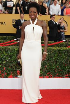 Viola Davis on the SAG Awards Red Carpet. [Photo by Amy Graves]