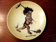 Vintage brownie downing #australian pottery #tinka aboriginal child wall #plate,  View more on the LINK: 	http://www.zeppy.io/product/gb/2/381556524790/