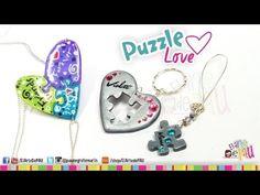 ▶ Puzzle Love Polymer Clay Tutorial / Rompecabezas de Arcilla Polimérica - YouTube