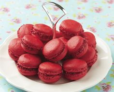 These Berry Macarons are filled with fruit curd and rolled in berries... they are bursting with the flavours of summer!