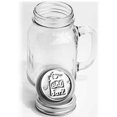 16oz Glass Mug with Stainless Steel Drink Top | MightyNest
