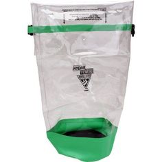 Seattle Sports Glacier Clear Dry Bag, Clear/Lime, Green