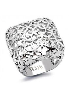 Women's Flower Stainless Steel Bold Wide Square Fashion Ring Size in Jewelry & Watches, Fashion Jewelry, Rings Fashion Rings, Fashion Jewelry, Fashion Necklace, Right Hand Rings, Dress Rings, Stainless Steel Jewelry, Size 10 Rings, Cocktail Rings, Beautiful Rings