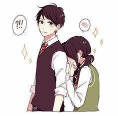 manga, hirunaka no ryuusei, and kawaii image Manga Love, Anime Love, Awesome Anime, Vocaloid, Daytime Shooting Star, Tsubaki Chou Lonely Planet, Hirunaka No Ryuusei, Anime Expressions, Manga Couple