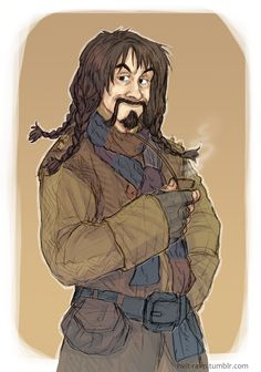 hvit-ravn: i chose bofur as you see. because i think that he looks cute without his hat.