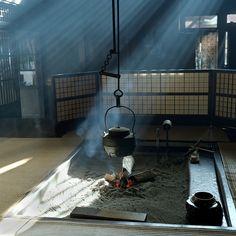 Japanese farm house & hot tea