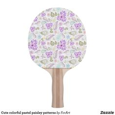 Shop Cute colorful pastel paisley patterns ping pong paddle created by ForArt. Ping Pong Table Tennis, Ping Pong Paddles, Paisley Pattern, Pastel, Colorful, Patterns, Illustration, Cute, Prints
