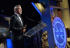 Honoree George Clooney, recipient of the Stanley Kubrick Britannia Award for Excellence in Film speaks onstage during the 2013 BAFTA LA Jaguar Britannia Awards presented by BBC America at The Beverly Hilton Hotel on November 9, 2013 in Beverly Hills, California.
