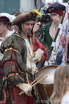 Kampf von Pavia: Landsknecht mit Trommel
