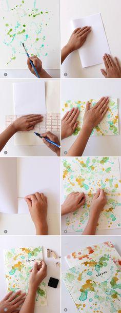 DIY Watercolor Notebook