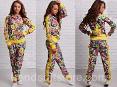 adidas floral tracksuit