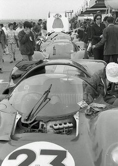 "definemotorsports: ""Factory Ferraris at Daytona 1967 The factory Ferrari team of three cars that beat the six Ford GT40 Mk. IIs that everyone predicted would win Daytona in 1967. """