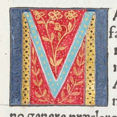 "Scriptores historiae Augustae. Milan: Philippus de Lavagnia, 1475. Detail from page of text (L8v) with decorated initial ""M"". Sp Coll Hunterian Ds.2.6."