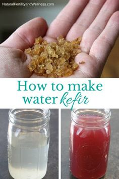 How to make water kefir -It's easy, and gives you a yummy way to drink your probiotics!