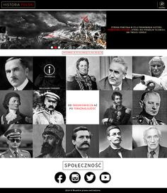 History layout on Behance