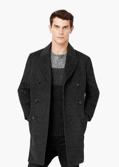 Caban en laine - Manteaux pour Homme | MANGO