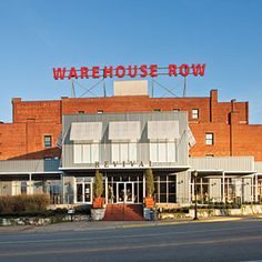 Chattanooga's Warehouse Row - beautifully restored. Pricey shops but a gorgeous building!