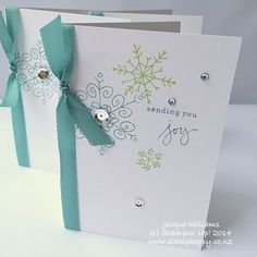 Stampin up endless wishes christmas fast notecard
