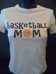 Basketball Mom Print and Bling TShirt by flashyexpressions on Etsy, $14.99