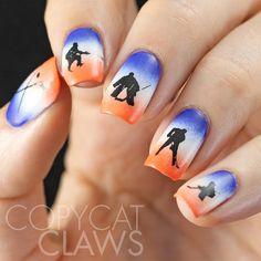 Hockey Nail Stamping