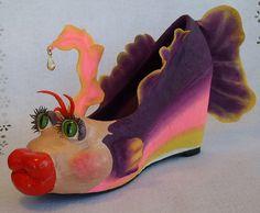 Paper Mache Fish Shoe by siestasue, via Flickr