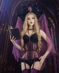 """3,041 Likes, 27 Comments - Absentia (@absentia_veil) on Instagram: """"Amazing corset and harness by @fangahra_corsets Headpiece and photo made by me and my assistant…"""""""