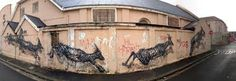 Street art : Another view of the fresco entitled 'The Williams Brothers' by the artist DALeast in South Africa in Cape Town. Best Street Art, Amazing Street Art, Amazing Art, Awesome, Grafitti Street, Graffiti Art, Graffiti Pictures, South African Artists, Cape Town South Africa