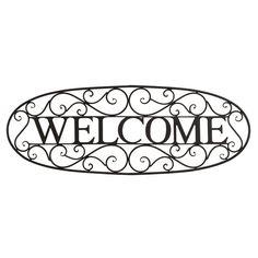 BayAccents Welcome Sign Wrought Iron Wall Décor & Reviews | Wayfair