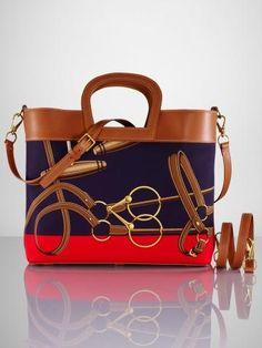 b6b2ff2547ed Equestrian-Print Tote - Ralph Lauren Handbags Handbags - RalphLauren.com Ralph  Lauren Handbags