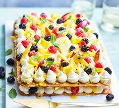 Summer fruit & mascarpone tart