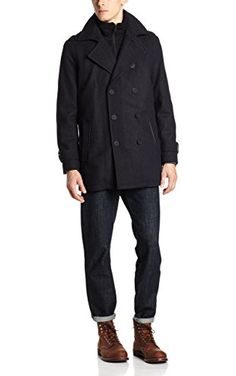 Marc New York by Andrew Marc Men's Penn Coat, Charcoal, X-Large ❤ Andrew Marc Men's Outerwear
