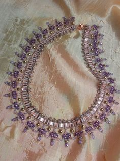 Champagne - Necklace beading tutorial