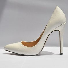 """Gender:Women Item Type:Pumps Toe Style:Closed Toe Shoe Width:Medium(B,M) Season:Spring/Autumn Upper Material:Leather,Alligator Heel Height:High (3"""" and up) Decorations:Plain Outsole Material:Rubber Lining Material:PU Occasion:Party Pump Type:Basic Heel Type:Thin Heels Brand:LOSLANDIF..."""