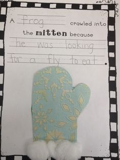 What the Teacher Wants!: The Mitten freebie