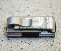 The Ridge••Slim RFID-Blocking Wallet : Made from Aluminum, Titanium, or Carbon Fiber