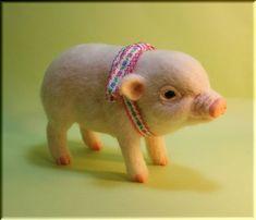 羊毛フェルト ブタ ミニブタ こぶた Tea cup pig