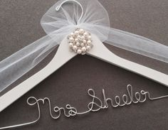 Pearl and Rhinestone Bridal Hanger,  Wedding Shower Gift, Wedding Dress Hanger, Jewels & Rhinestone Hanger