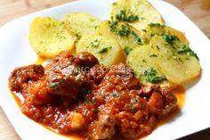 Carne 'al desarreglo' con patatas 'chulas'. Receta - Mercado Calabajío