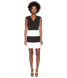 Boutique Moschino Color Block Dress (Black/White) Women's Dress