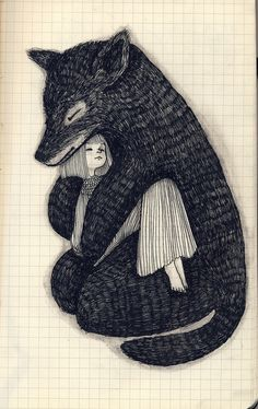 littlechien  via viresqueacquiriteundo  1000drawings:    by Ani Castillo