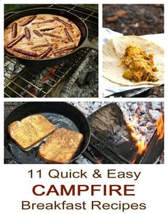 11 quick, simple and easy campfire breakfast recipes. You have to have a good breakfast while camping. Breakfast And Brunch, Campfire Breakfast, Campfire Food, Best Breakfast, Breakfast Recipes, Campfire Recipes, Breakfast Sandwiches, Breakfast Burritos, Camping Meals