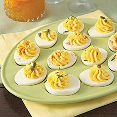 Deviled #EGGs | MyRecipes.com #gameday #SuperBowl #appetizer