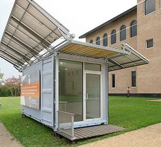 Joe Meppelink, University of Michigan alumnus, SPACE Solar-Powered Shipping Container at University of Houston College of Architecture