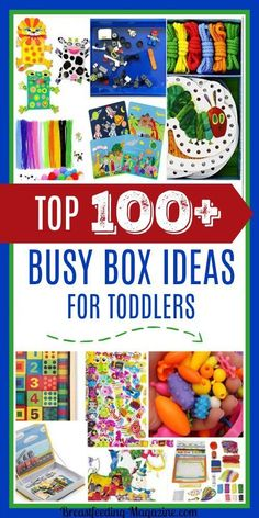 Busy Boxes for Toddlers For When Mom is Breastfeeding Top 100 best busy box ideas for toddlers and preschoolers. The post Busy Boxes for Toddlers For When Mom is Breastfeeding appeared first on Toddlers Ideas. Toddler Busy Bags, Toddler Fun, Toddler Gifts, Toddler Preschool, Toddler Activity Bags, Toddler Learning Activities, Preschool Activities, Indoor Activities, Summer Activities