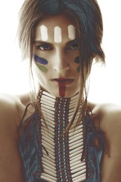 tribal makeup indian style