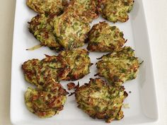 Zucchini Fritters    Pan-fry grated zucchini into bite-sized pancakes for an easy utensil-free side dish or finger food.