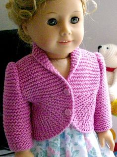 Ravelry: Summer Jacket with Curved Front for American Girl doll pattern by Irene Aksilenko