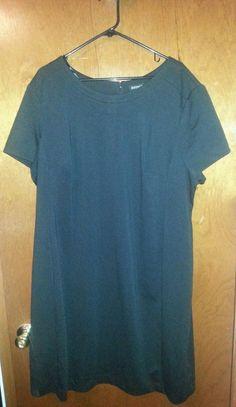 George Black Dress Size 4X (26-28) #George #Shift #WeartoWork